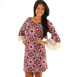 Women's Judith March Crimson Patterned Dress NWT M